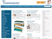 Ambulatoriprivati.it sviluppato dal Team dell' Informatico Agenzia Web a Teramo